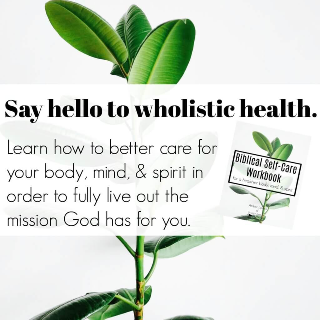 Biblical Self Care Workbook
