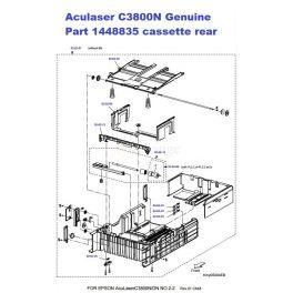 Epson Aculaser C3800N Tray cassette assy Rear 1448835