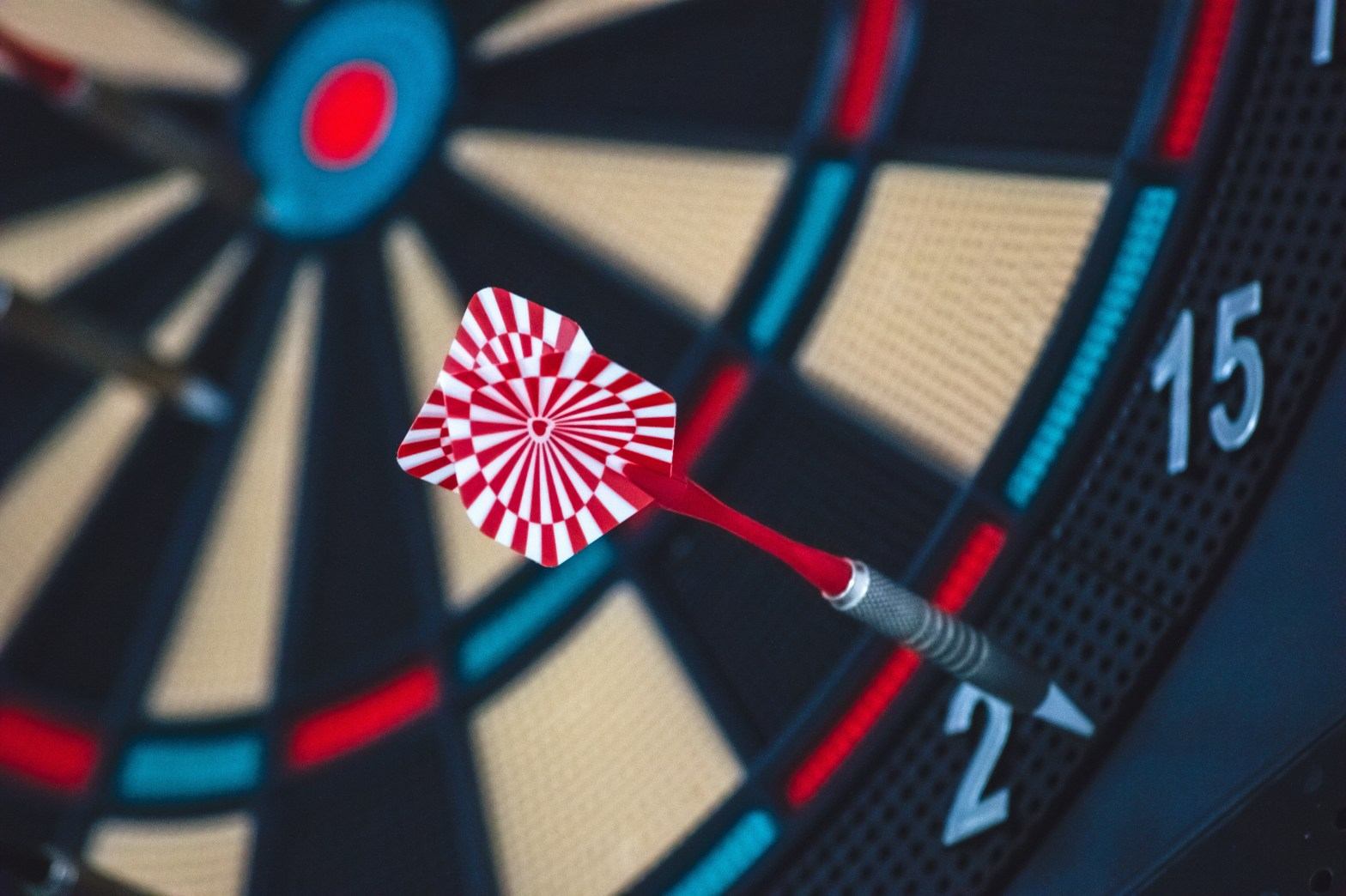 Dartboard showing what happens when you aim low