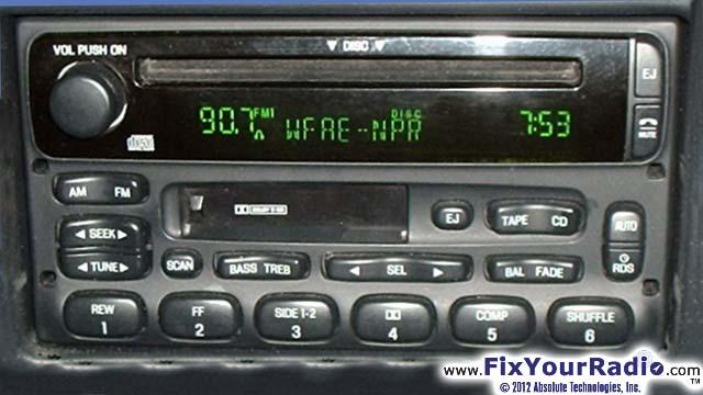 97 Chevy Radio Wiring Diagram Radio Repairs Including Blank Radio Display Ford