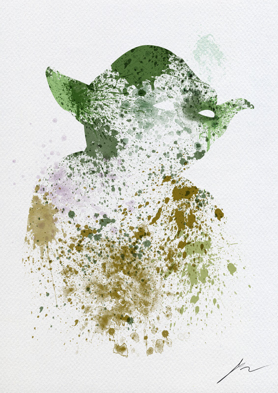 STAR WARS Paint Splatter Art