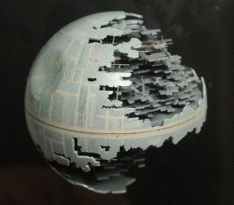 Death Star Art from Ping Pong Ball