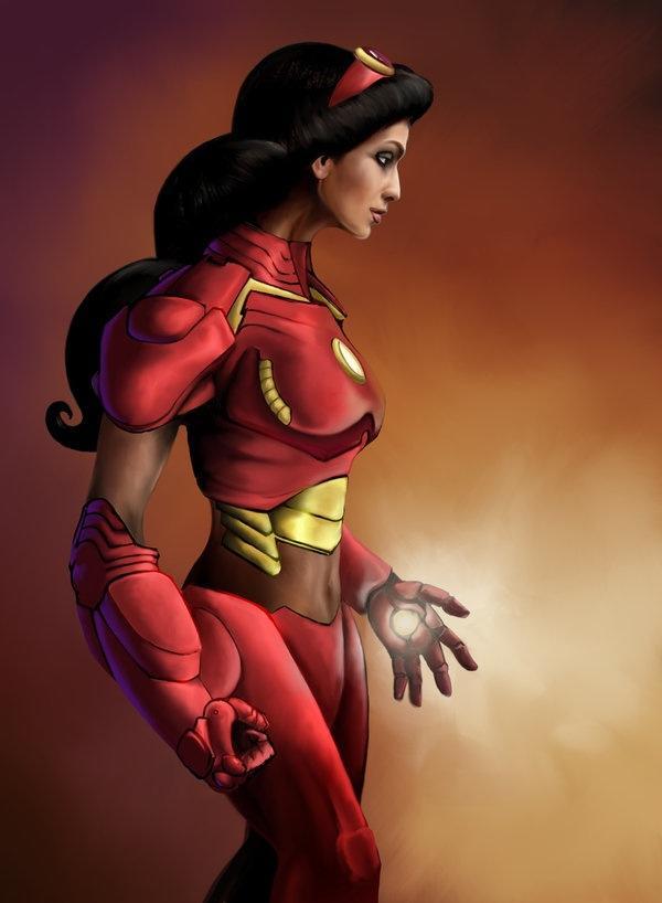 Disney-Princess-Avengers-Iron-Man-Jasmine