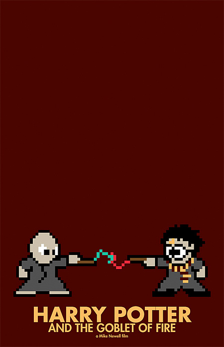 harry potter 8-Bit Movie Posters