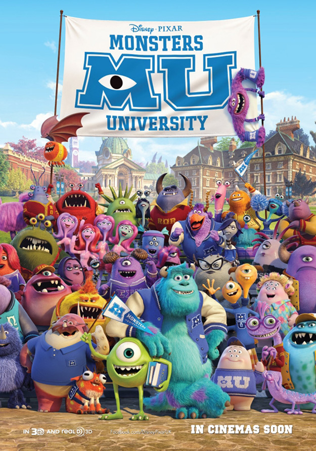 MONSTERS UNIVERSITY - Full Cast Poster