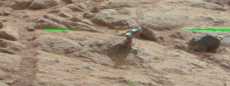 Mars rover spots something Transformish
