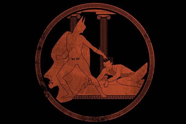 Greek Pottery Meets Superheroes