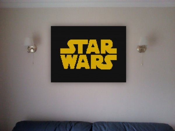 Star Wars Mosaics Out Of Lego