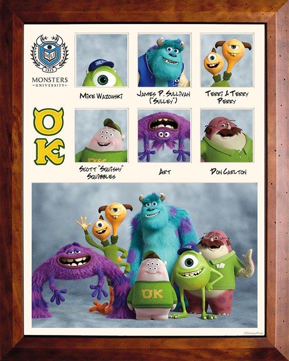 """Monsters University"" Framed Photos"