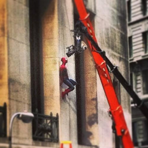 spiderman 2 set photos
