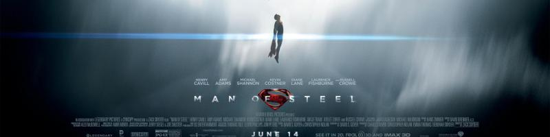 Superman on a New Man of Steel Banner