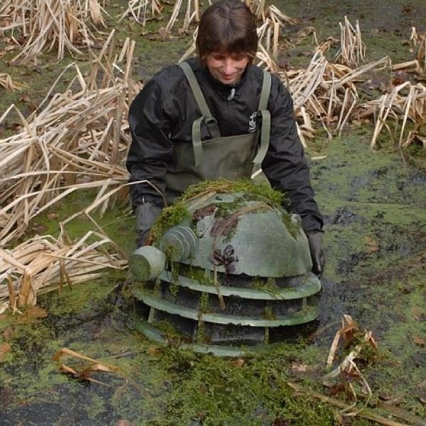 Doctor Who Dalek discovered at bottom of UK pond