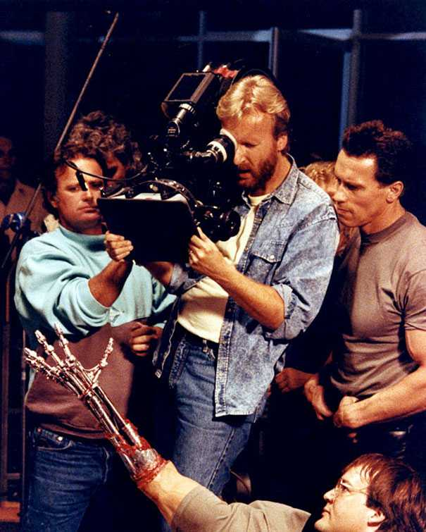 Behind the scene photo from Terminator