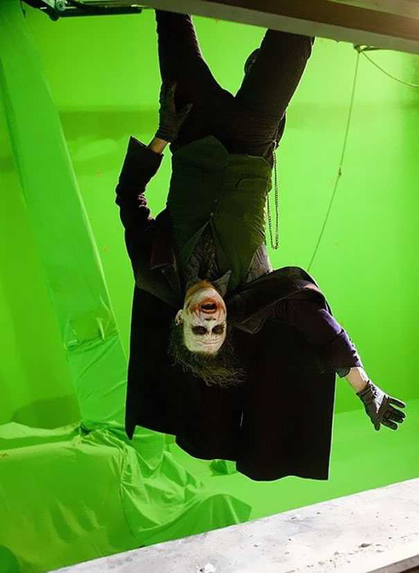 Behind the scene photo from The Dark Knight