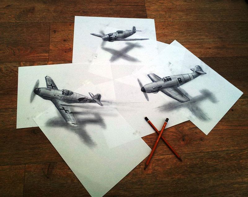 3D Anamorphic Drawings