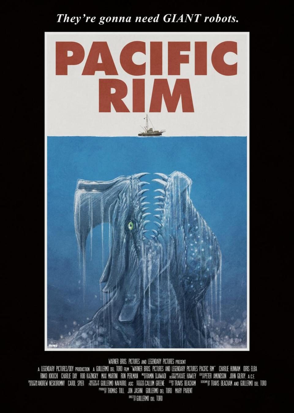 PACIFIC RIM and JAWS Mashup Poster