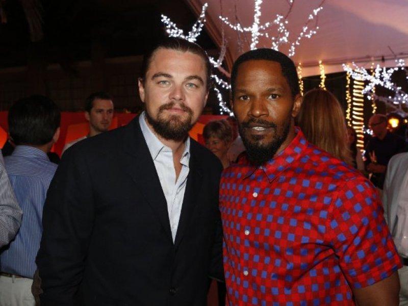 Mean Business Leonardo DiCaprio and Jamie Foxx