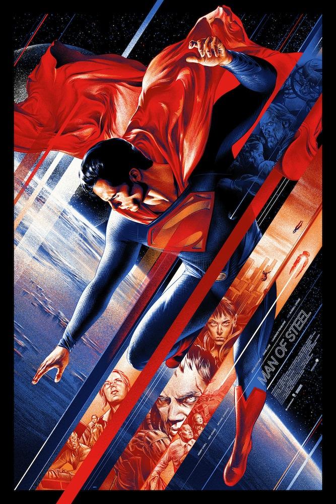 MAN OF STEEL Mondo Poster Art