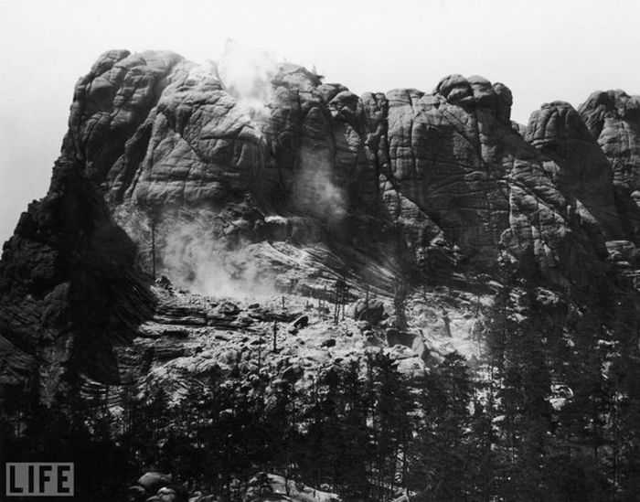Mount Rushmore as it appeared in its more natural state