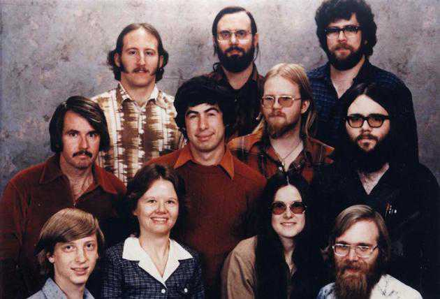 The Microsoft staff in 1978.