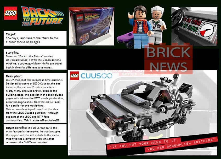 LEGO's BACK TO THE FUTURE Play Set