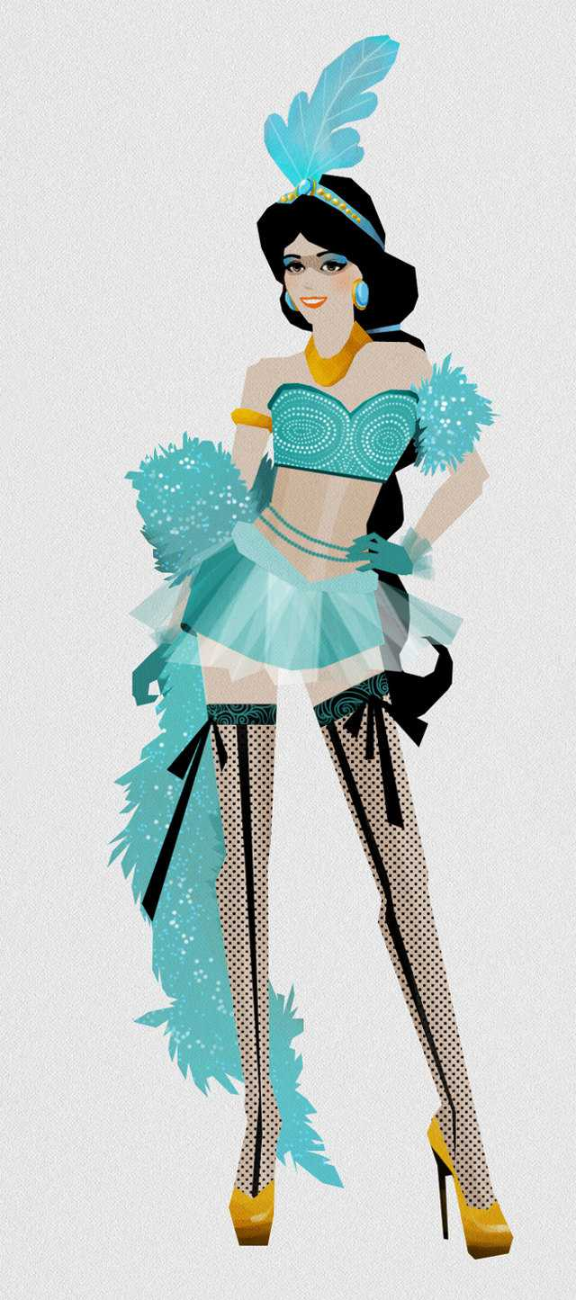 Disney Princesses As Moulin Rouge Style Dancers