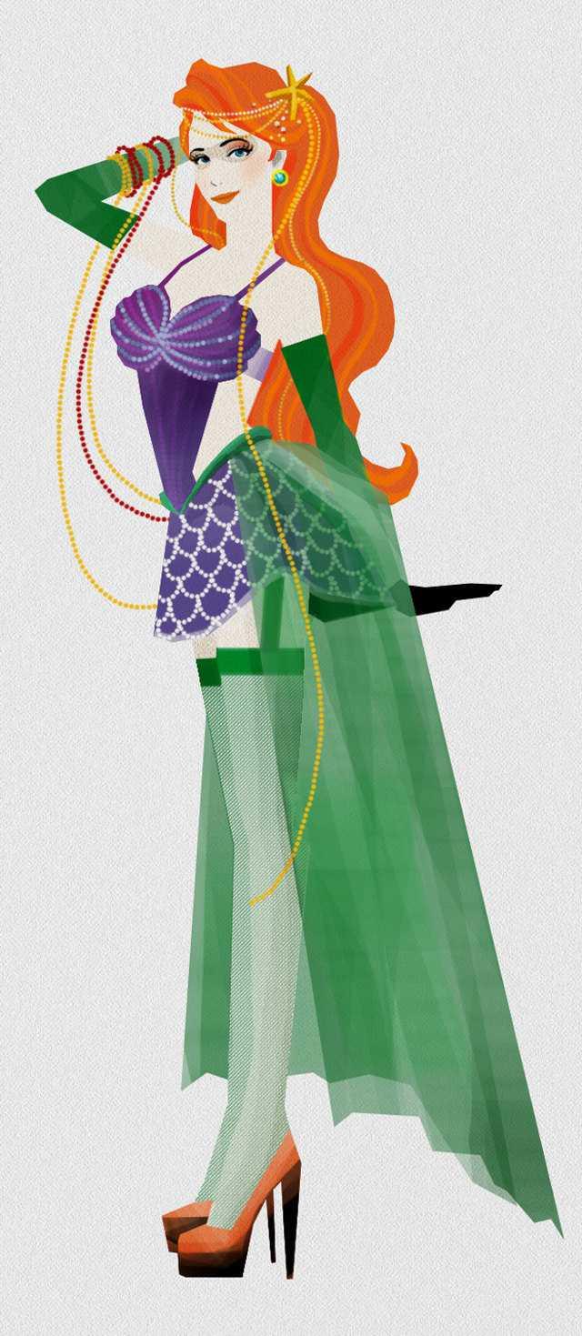 Disney Princesses As Moulin Rouge Style Dancers