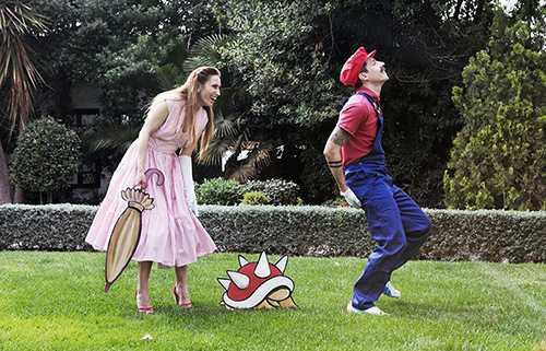 Super Mario Inspired Wedding Photos