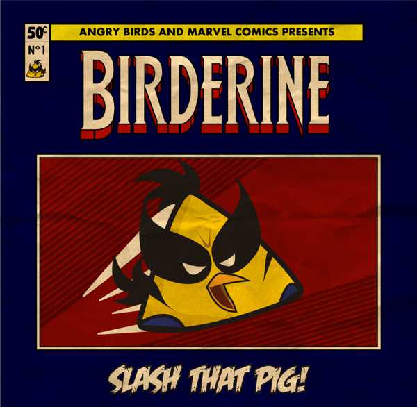 Angry Birds Meets Marvel Heroes