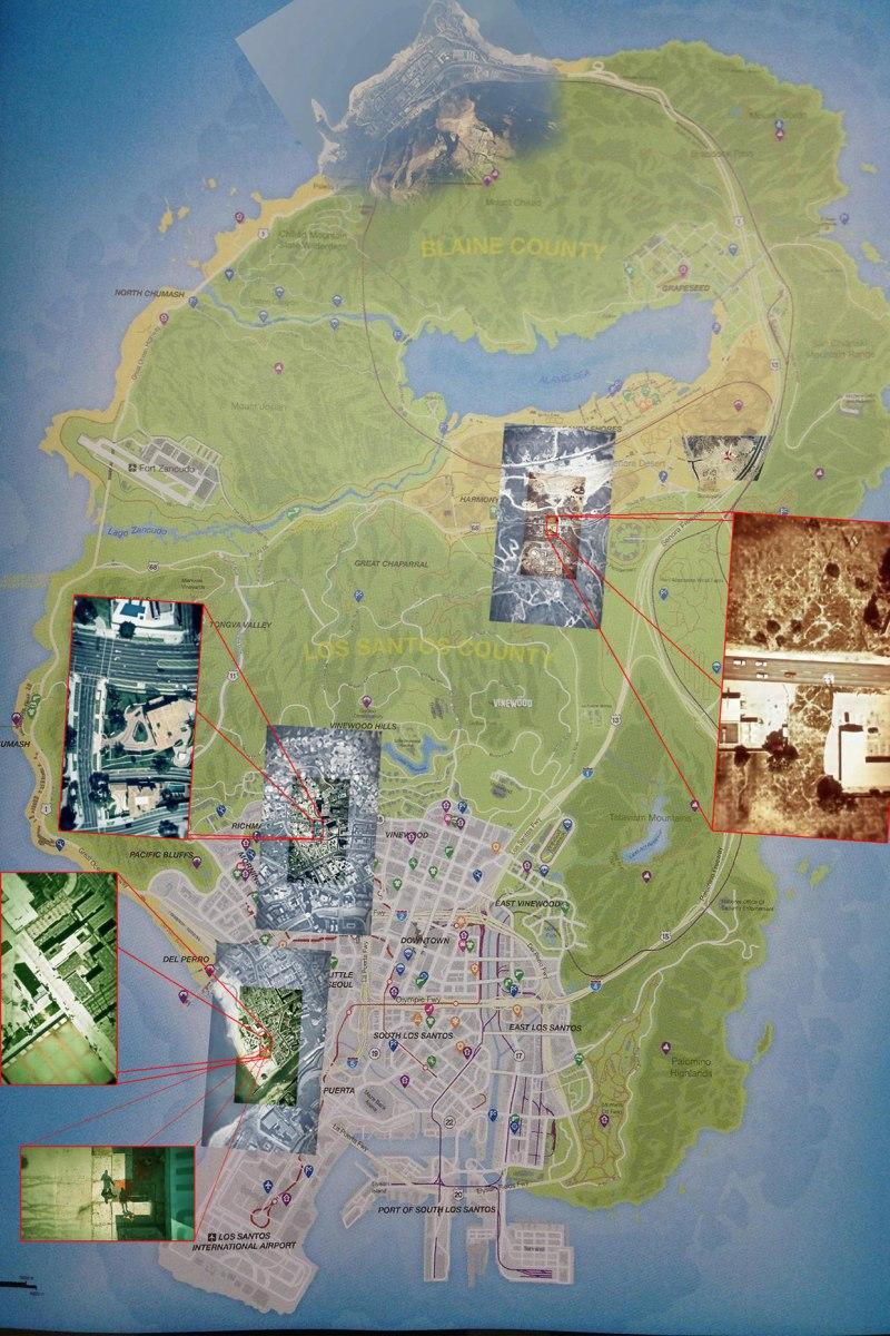 Grand Theft Auto V world map