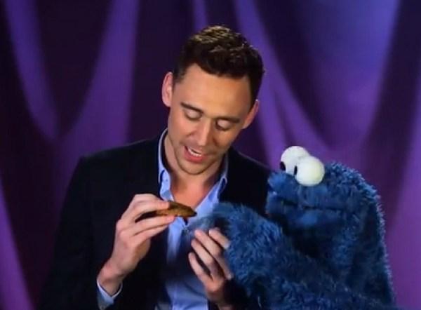Tom Hiddleston Meets Cookie Monster