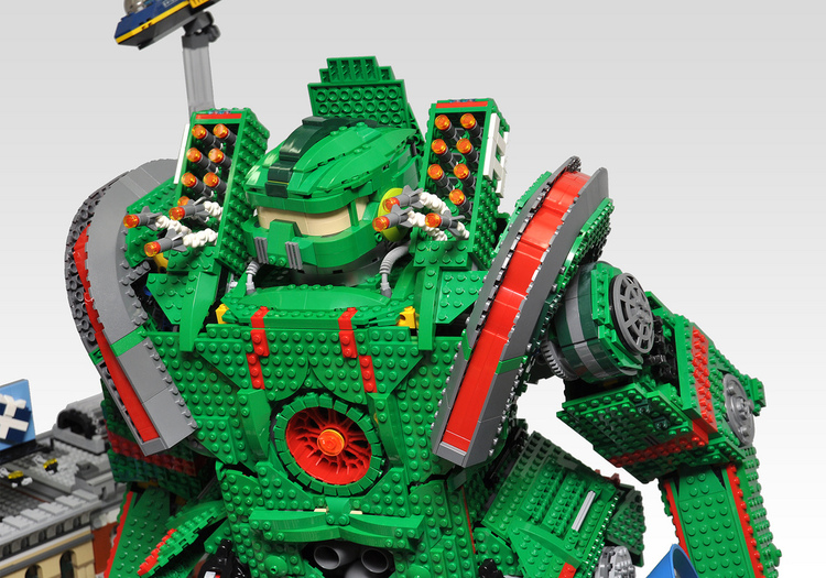 Kaiju and Jaeger Battle Recreated in LEGO