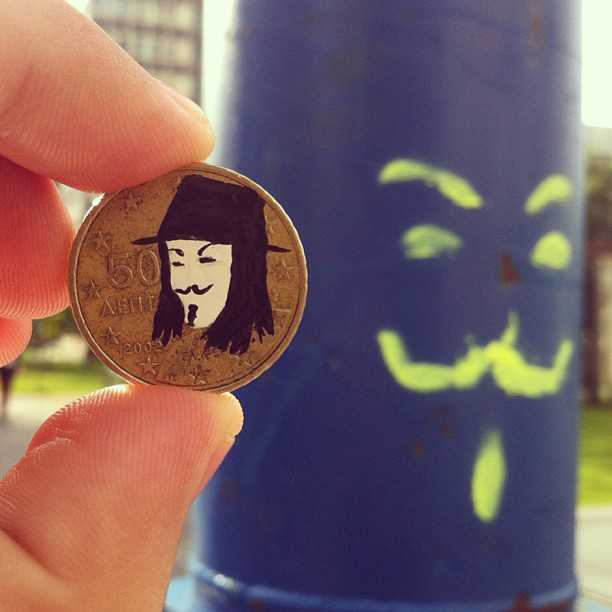 Pop Culture Portraits Painted on Coins