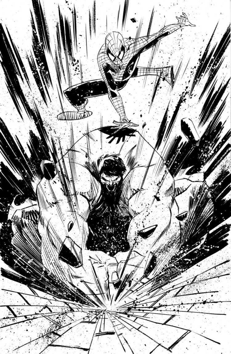 Black & White Superhero Sketches