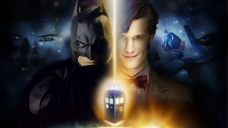The Doctor, Batman and Superman