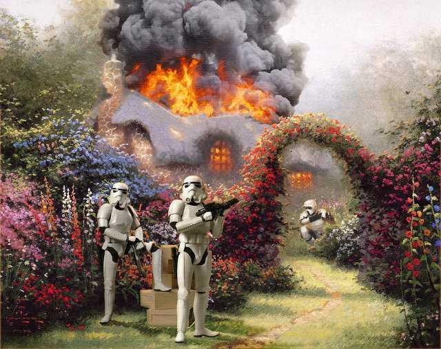 Thomas Kinkade Star Wars Paintings
