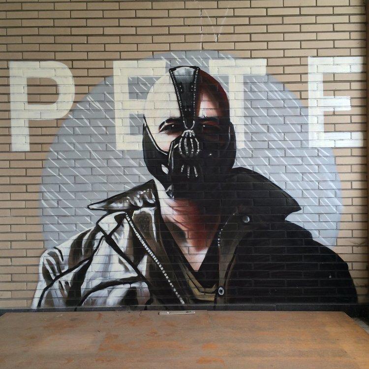 Insane Batman Graffiti Found In Abandoned Building