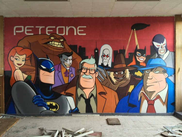 Insane Batman Graffiti Found In Abandoned Building