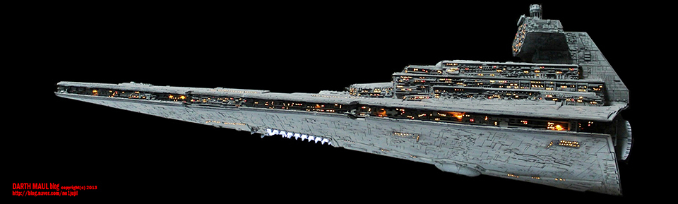 Stunning Star Wars Imperial Star Destroyer Model