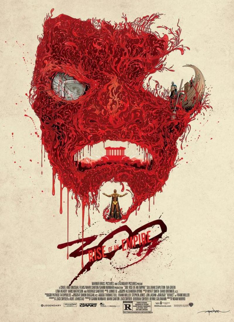 300 RISE OF AN EMPIRE Mondo Fan Poster