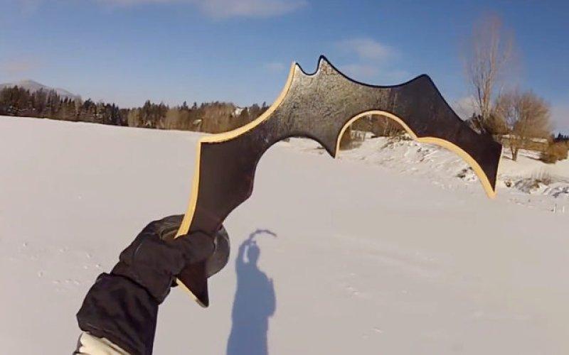 Guy Makes His Own Functional, Returning Batarang