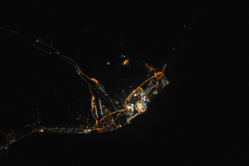 THE 2014 SOCHI WINTER OLYMPICS FROM SPACE