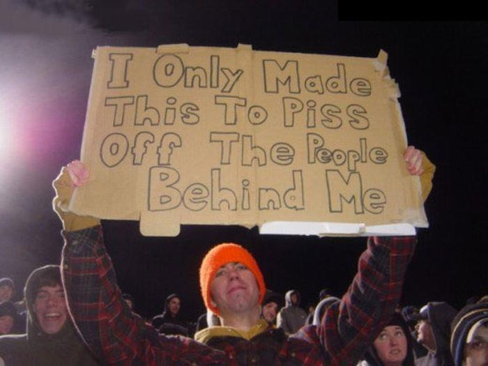 Funny Spectator Signs