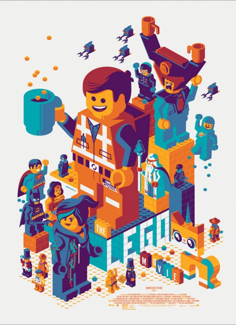 Tom Whalen's The LEGO Movie' Mondo Poster