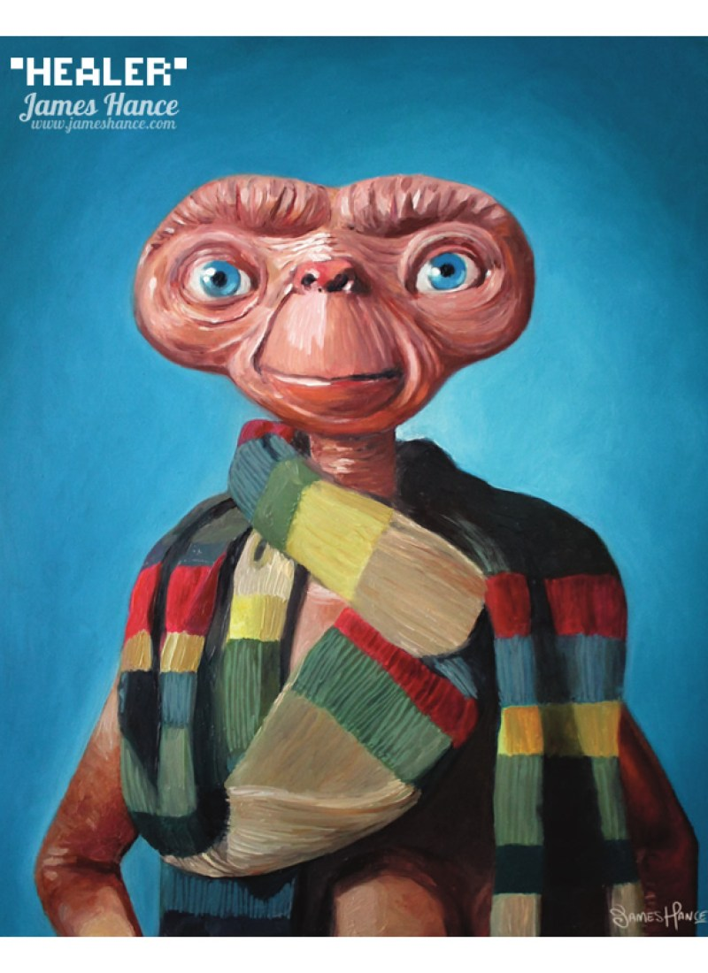 DOCTOR WHO Mashed E.T. Oil Painting