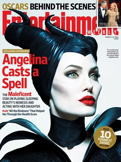 Angelina Jolie On Entertainment Weekly's Maleficent Cover