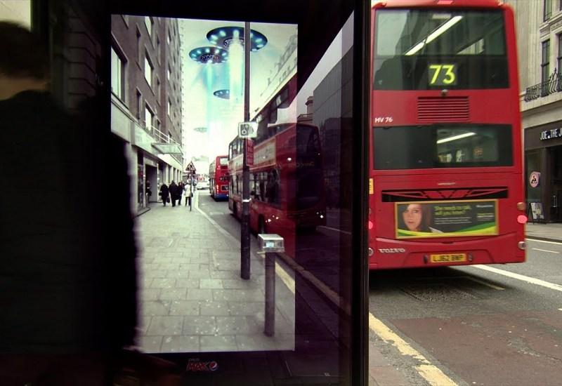 Pepsi's bus stop ad in London