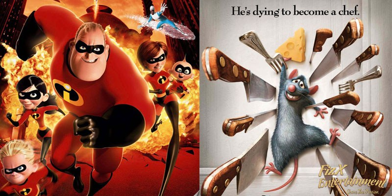 The Incredibles and Ratatouille
