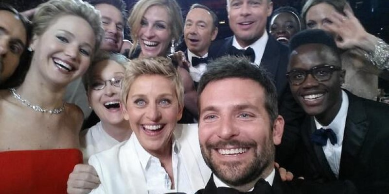 Ellen DeGeneres Most Retweeted Selfie at the Oscars