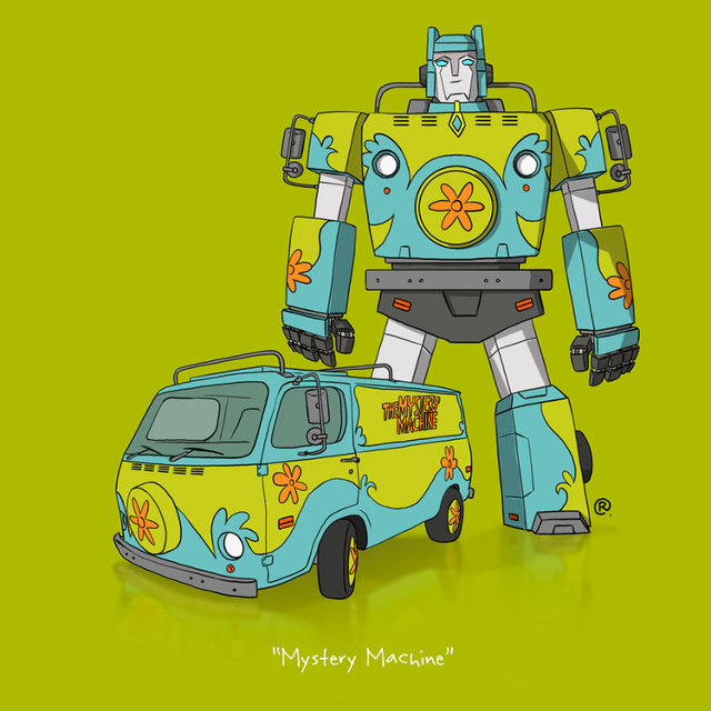If Iconic Pop Culture Vehicles Were Transformers